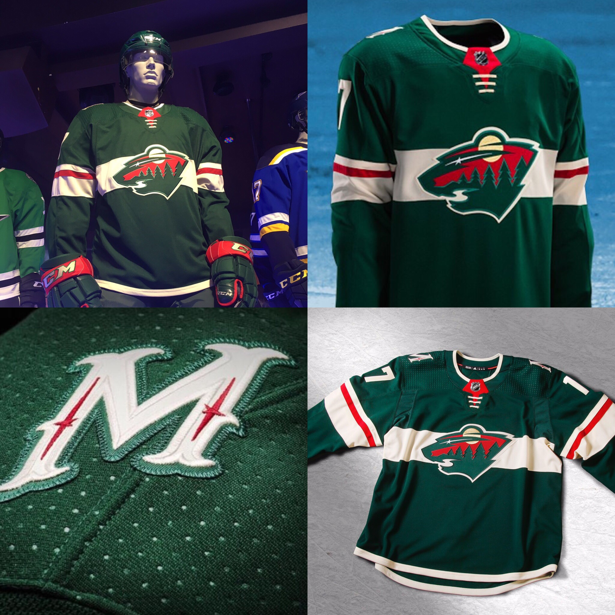 A preview picture from a few weeks back suggested that the Wild were going  to be making some changes with their home greens by adding a cream-colored  ... 6ecf6d40e80
